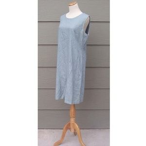 Coldwater Creek Dress Jumper Size 14 Linen Green